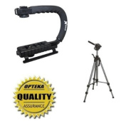 Opteka Support Kit with X-Grip Stabilising Handle and 180cm Pro Photo Tripod