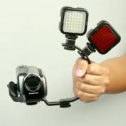 ePhoto C002 Handheld Stablizer with 2 Hotshoe Adapter