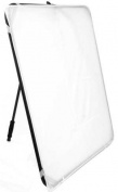 Alzo Easy Frame Diffuser & Reflector Kit- 100cm Metal Frame with Handle Incl. 1 Diffuser, 1 Silver - 1 Gold Reflector