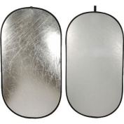 Impact Collapsible Oval Reflector Disc - Silver/White - 100cm x 190cm