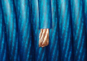 BLUE 0 Gauge Power/Amplifier Wire (0.9m Minimum Purchase Required) BY-THE-FOOT 1/0 AWG Primary Cable