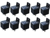 Absolute USA RLS125-10 SPDT 30/40A 12 VCD Automotive Relay - 10 Pack