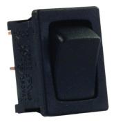 JR Products 12785 Black/Black SPST Mini On/Off Switch
