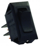 JR Products 12705 Black SPST Mom-On/Off Switch