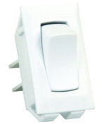 JR Products 13395 White SPST Unlabeled On/Off Switch