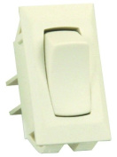 JR Products 13415 Ivory SPST Unlabeled On/Off Switch