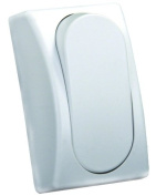JR Products 13575 White SPST Modular On/Off Single Switch