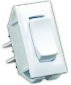 JR Products 13435 White SPDT On/Off/On Switch