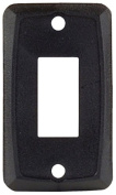 JR Products 12851-5 Black Single Face Plate - Pack of 5