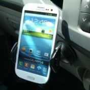 ZS Black Multi Surface Dash Window Car Mount for Galaxy S3 SGH-i747 AT & T