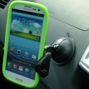 ZS Black Multi Surface Dash Window Car Mount for Galaxy S3 GT-i9300 SIII