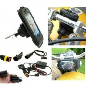 Motorcycle Fork Stem Yoke iPhone 4S Powered Mount Kit. Fits Holes 13.3mm - 14.7mm