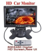 BW® 18cm Digital TFT Colour LCD Car Rearview Monitor With 800X480 HD Resolution Supporting Rotating The Screen and 2 Channels AV Inputs