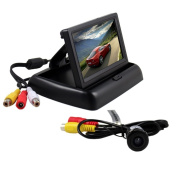 BW® 11cm Folding TFT LCD Rearview Colour Camera Monitor And Car Rear View Camera