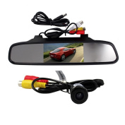 BW® 11cm TFT LCD Rearview Mirror Monitor And Waterproof Car Rear View Camera Wired Wide Viewing 135 Degree