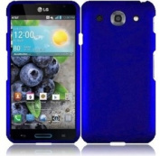 LG OPTIMUS G PRO E980 SOLID BLUE RUBBERIZED COVER SNAP ON HARD CASE + SCREEN PROTECTOR from [ACCESSORY ARENA]
