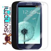 Skinomi TechSkin for Samsung Galaxy S3 Screen Protector Ultra Clear Shield plus Black Carbon Fibre Full Body Protective Skin