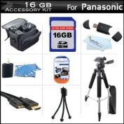 16GB Accessory Kit For Panasonic HDC-TM41 HD Camcorder Includes 16GB High Speed SD Memory Card + 57 Full Size Tripod w/ Case + Deluxe Case + Mini HDMI Cable + LCD Screen Protectors + USB 2.0 SD Card Reader + MicroFiber Cleaning Cloth + More