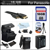 16GB Accessories Kit For Panasonic Lumix DMC-FZ200, DMC-G5, DMC-GH2 Digital Camera Includes 16GB High Speed SD Memory Card + Extended Replacement (1500 maH) DMW-BLC12 Battery + AC/DC Charger + Mini HDMI Cable + Mini Tripod + Case + Screen Protectors +More