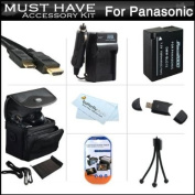 Must Have Accessory Kit For Panasonic Lumix DMC-FZ200, DMC-G5, DMC-GH2 Digital Camera Includes Extended Replacement (1500 maH) DMW-BLC12 Battery + Ac/Dc Travel Charger + Mini HDMI Cable + USB Reader + Deluxe Case + Mini Tripod + Screen Protectors + More