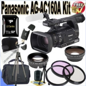 Panasonic AG-AC160A AVCCAM HD Handheld Camcorder 64GB Package