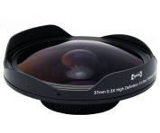 Opteka OPT-SC37FE Platinum Series 0.3X HD Ultra Fisheye Lens for 25mm, 30mm, 30.5mm & 37mm Digital Video Camcorders