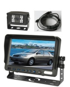 18cm Colour LCD Reversing Monitor and CCD Rear View Camera with 4-Pin weather/water proof connectors, Up to 2 Cameras Auto Switching and CCD 120° Night Vision. by YanTech USA