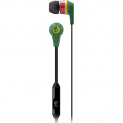 Skullcandy Ink'd 2 with Mic Earphones/Earbuds Premium Headphone - Rasta / One Size