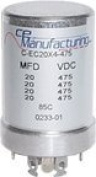 CE Manufacturing 20/20/20/20uF 475VDC Multi Section Can Capacitor