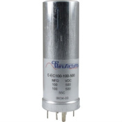 CE Manufacturing 100/100uF 500VDC Multi Section Can Capacitor
