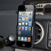 Amzer AMZ95602 Swivelling Air Vent Mount Holder for Apple iPhone 5, iPhone 5S (Fits All Carriers) - Black
