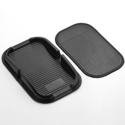 1pc Black Rubber Proof Anti Skid Sticky Pad Dash Non Slip Washable Reusable Auto Car Dashboard Interior Decoratio Mat Holder For GPS MP3 MP4 Mobile Iphone Cell Phone Devices Key Sunglasses Coins New
