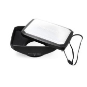 Mennon 58mm 16:9 Wide Angle Video Camera Screw Mount Lens Hood with White Balance Cap, Black