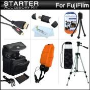 Starter Accessories Kit For Fuji Fujifilm FinePix XP200, XP170, XP150, XP100 Waterproof Digital Camera Includes Deluxe Carrying Case + 50 Tripod w/ Case + Micro HDMI Cable + USB 2.0 Card Reader + Float Strap + Mini TableTop Tripod + MicroFiber Cloth ++