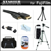 Starter Accessories Kit For Fuji Fujifilm X100S 16 MP Digital Camera Includes Deluxe Carrying Case + 50 Tripod With Case + Mini HDMI Cable + USB 2.0 Card Reader + LCD Screen Protectors + Mini TableTop Tripod + MicroFiber Cleaning Cloth