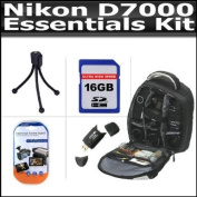 Essential Accessory Kit For The Nikon D7000 Includes 16GB High Speed SD Memory Card + Deluxe BackPack Case + High Spped 2.0 USB SD Card Reader + LCD Screen Protectors + Mini Tripod + Lens Pen Cleaning Kit