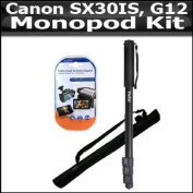 Tripod Kit For The Canon SX30IS SX30 IS SX40 HS SX40IS Canon G12 G1 X G1X SX50 HS, SX50HS, Powershot G15 Digital Camera Includes 170cm Monopod + Clear LCD Screen Protectors