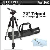 Pro 72 Super Strong Tripod With Deluxe Soft Carrying Case For JVC GS-TD1, GZ-HD520, GZ-HM30, GZ-HM440, GZ-HM450, GZ-HM50, GZ-HM650, GZ-HM670, GZ-HM690, GZ-HM860, GZ-HM960 HD Everio Camcorder