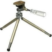 Hakuba DTPH3CG 3-Section Tabletop Tripod with 3-way Head Champagne Gold