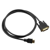 . Black 6FT /2 Metre HDMI Male To DVI Male Cable
