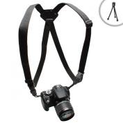 TrueSHOT Nikon DSLR Camera Harness Strap System with Adjustable Brackets for Nikon D7100 , D5200 , D600 / Coolpix L320 , L820 , P520 & more Nikon Digital SLR Cameras Includes Mini Tripod