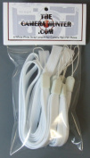 6 White Wrist Strap Lanyard for Camera Mp3 PSP Cell Phone Wii and other Electronic Devices