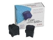 2-pack Cyan Genuine Colorstix Ink for Phaser 8200