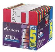 Imation(TM) 8.9cm Bulk Diskettes, IBM(R) Format, DS/HD, Rainbow, Box Of 30