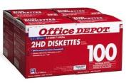 Office Depot(R) 8.9cm Bulk Diskettes, IBM(R) Format, DS/HD, Black, Box Of 100