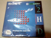 1995 Sony Electronics, Inc. Sony Micro Floppy Disc/double Sided 10mfd-2hdcf 10 Pack Blister Box Package---capacity IBM Formatted 1.44 Mb 10 Pack---specifications Trackes Per Inch 135 Tpi, Number of Tracks-80/side Double Side/high Density---compatibilit ..
