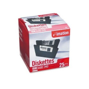 Imation 8.9cm Diskettes IBM-Formatted DS/HD 25/Pack Low Torque Antistatic Design