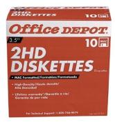 Office Depot(R) 8.9cm Diskettes, Mac Format, DS/HD, Black, Box Of 10