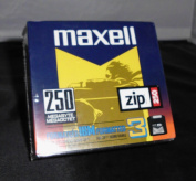 Maxell Zip Disc, 250MB, IBM Formatted, Pack Of 3