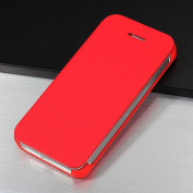 Ultra Slim Thin Flip PU Red Leather Diary Book Case Cover For iPhone5 5th Gen